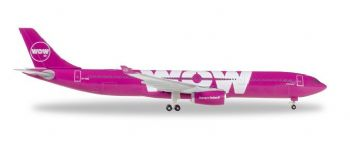Airbus A330-300 Wow Air Iceland Herpa Collectors Model Scale 1:500 530743 E